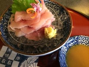 昼食:鯉のあらい