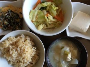 朝食2 玄米ご飯2杯